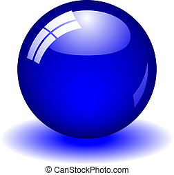 Blue Ball - Glossy blue ball with reflection. Available in ...