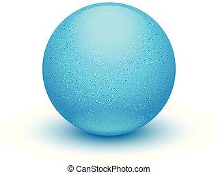 blue ball on white