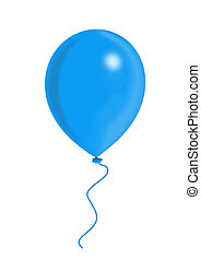 Blue Balloon, balloon series, object isolated, illustration,...