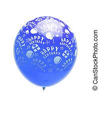 blue balloon isolated