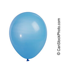 Blue balloon isolated on white