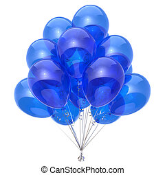 Blue balloons bunch translucent beautiful