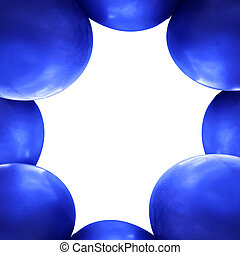 blue balloons frame