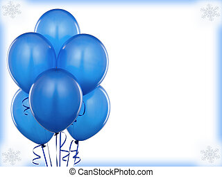 Blue baloons invitation