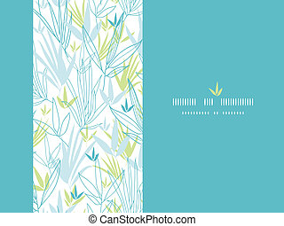 Blue bamboo branches vertical decor background - Vector Blue...