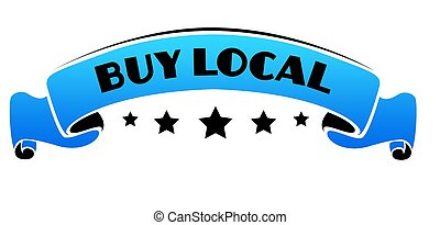 Blue band with BUY LOCAL text.