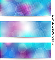 Blue banner set - Set from three blue banners. EPS10...