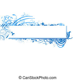 blue banner vector with space for your own text