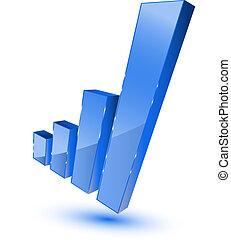 Blue bars graphic