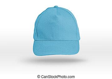 Blue Baseball Cap on a white background.