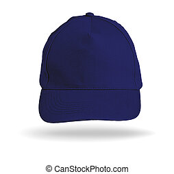 Blue Baseball Cap on a white background.