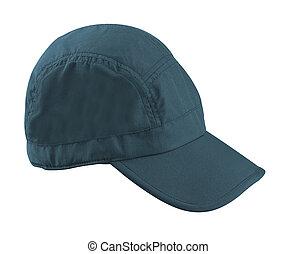 Blue Baseball Hat isolated on white background