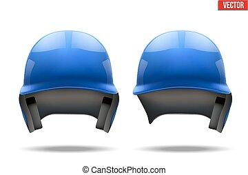Blue baseball helmet