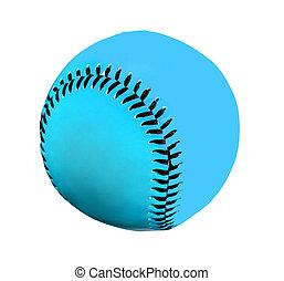 blue baseball Isolated on White