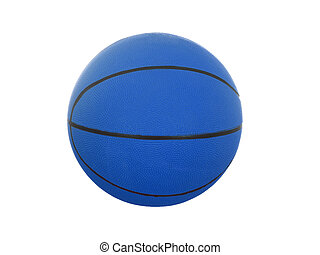 Blue  basketball ball isolated on white background