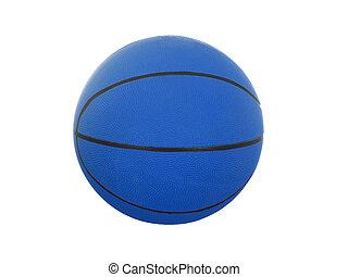 Blue  basketball ball isolated on white background