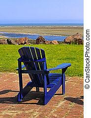 Blue Beach Chair Summer Scene