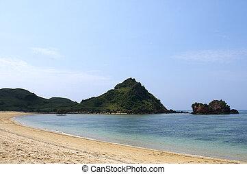 Blue beach Lombok Indonesia