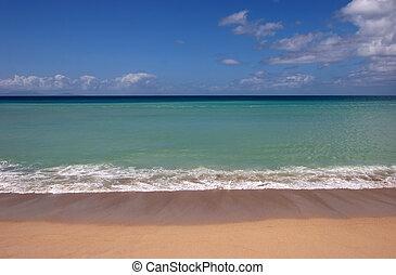 Blue Beachscape - A beautiful deserted tropical beach