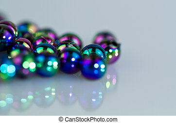 Blue Beads Abstract Background