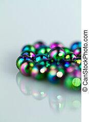 Blue Beads Background II