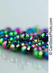 Blue Beads Background III