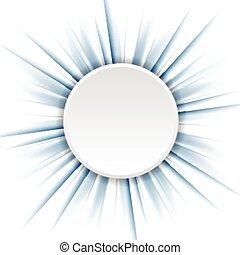 Blue beams and white circle. Vector design eps 10
