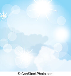 sky background - blue beautiful sky background. vector...
