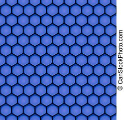 blue bee honeycomb design seamless pattern eps10