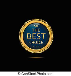 Blue Best choice label