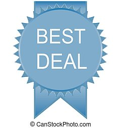blue best deal badge