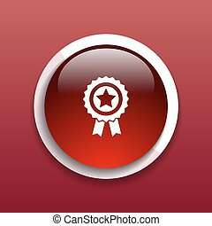 blue best of badge with ribbon icon award  champion