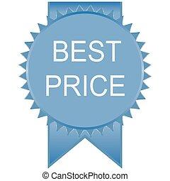 blue best price badge