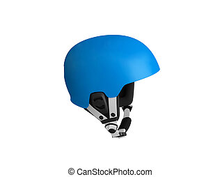 blue bicycle helmet isolated