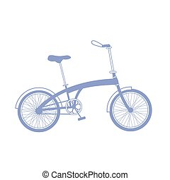 Blue bicycle illustration on white background