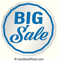blue big slae web icon price tag banner