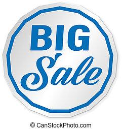 blue big slae web icon price tag banner