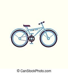 Blue bike, modern bicycle vector Illustration