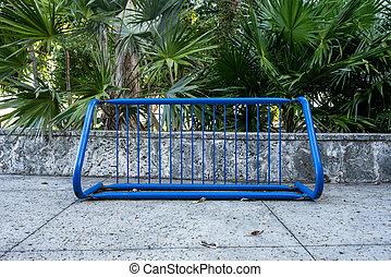 Blue Bike Rack