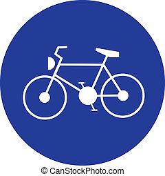 blue bike traffic sign