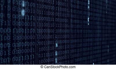 Blue Binary Computer Code Background.
