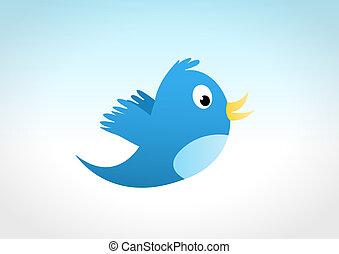 Blue Bird - Blue bird flying on the sky