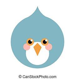 blue bird flat icon