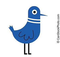 Blue bird flat illustration