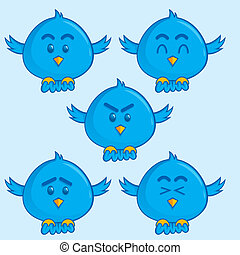 Blue bird mascot