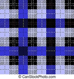 Blackberry tartan clan black white pixel seamless pattern