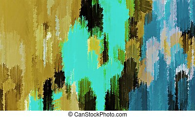 blue black green painting texture