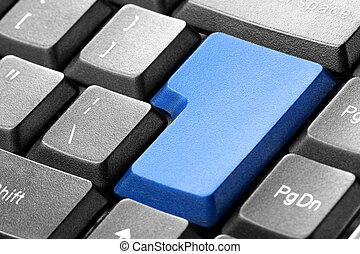 Blue blank button on the keyboard