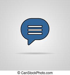 Blue blank map pin icon web button