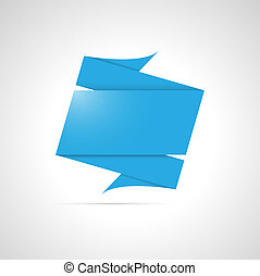 blank origami style template